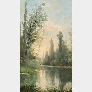 Claude François Auguste, Marquis de Mesgrigny (French, 1836-1884)      The River's Bend