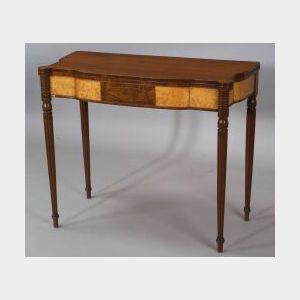 Federal Mahogany and Bird's-eye Maple Veneer Card Table