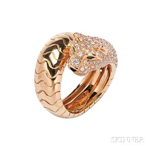 """18kt Gold and Diamond """"Panthere"""" Ring, Cartier"""