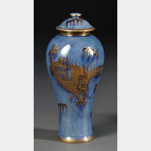 Wedgwood Dragon Lustre Vase and Cover