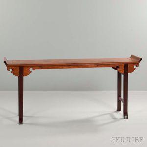 Recessed-leg Hardwood Table