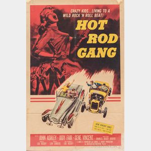 """""""Hot Rod Gang"""" One Sheet Movie Poster"""