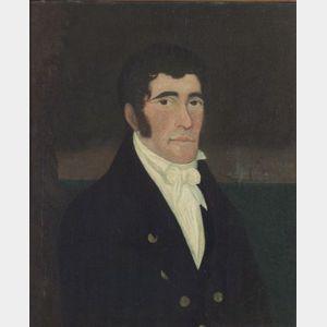 American School, 19th Century      Portrait of a Ship's Captain.