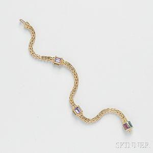 14kt Gold Gem-set Bracelet