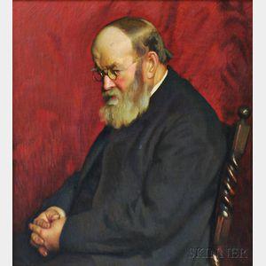 Gretchen W. Rogers (American, 1881-1967)      Portrait of a Bearded Gentleman