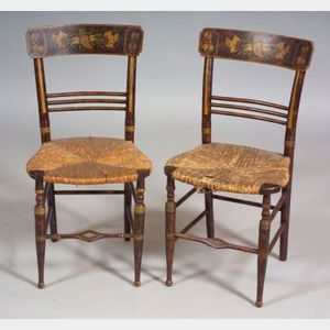 Pair of Fancy Painted Chairs