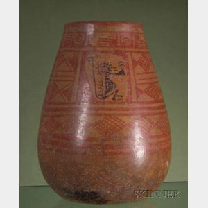 Pre-Columbian Painted Pottery Jar