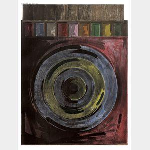 Jasper Johns (American, b. 1930)      Target with Plaster Casts