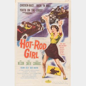 """""""Hot-Rod Girl"""" One Sheet Movie Poster"""