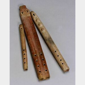 Three Pre-Columbian Pottery Flutes