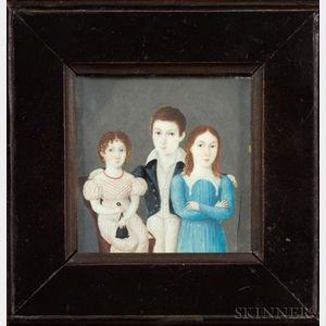 Portrait Miniature of Three Children