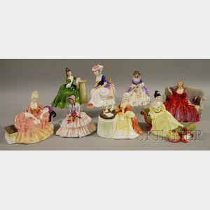 Eight Royal Doulton Porcelain Figures