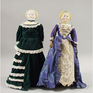 Blonde China Doll and Blonde Parian Doll