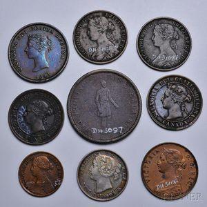 Eighteen Canadian Coins