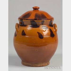 Redware Jar with Cover