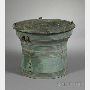 Large Bronze Drum