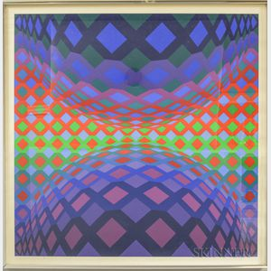 Victor Vasarely (Hungarian/French, 1906-1997)      Reech