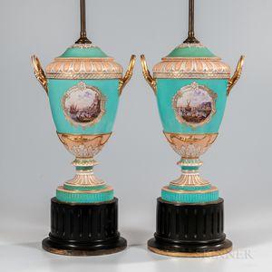 Pair of KPM Berlin Porcelain Vases