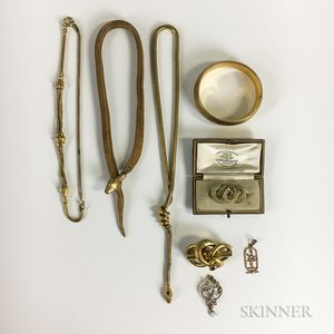 Group of Victorian and Victorian-style Gold-filled Jewelry