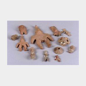 Twelve Pre-Columbian Pottery Items