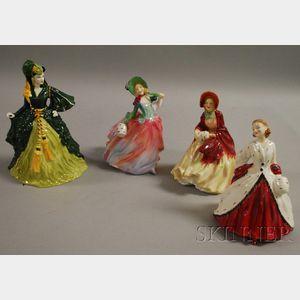 Four Royal Doulton Porcelain Figures