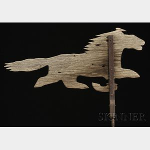 Wood and Iron Running Horse Weather Vane