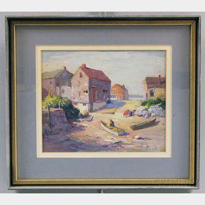 Frederick W. Oliver (American, 1876-1963)      Beachfront Landing.
