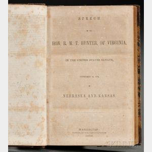 American Political Speeches, Sammelband Volume, c. 1850.