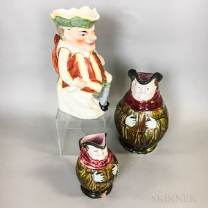Three English Ceramic Toby Jugs