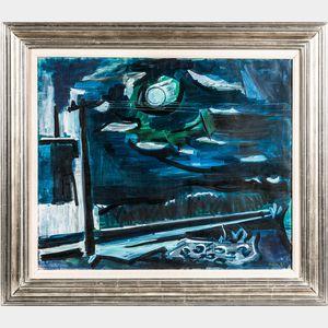 Ben Benn (American, 1884-1983)      Moonlight at Sag Harbor