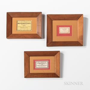 Three Framed Shaker Seed Labels