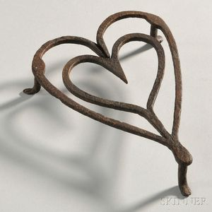 Wrought Iron Heart-shaped Trivet