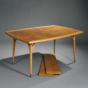 Mid-Century Oak Modern Dining Table