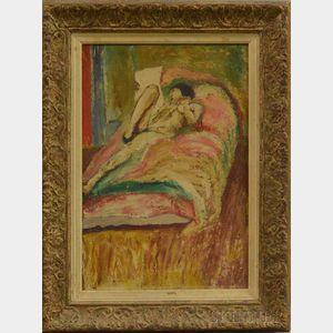 Attributed to Edward Estlin (E.E.) Cummings (American, 1894-1962)      Nude