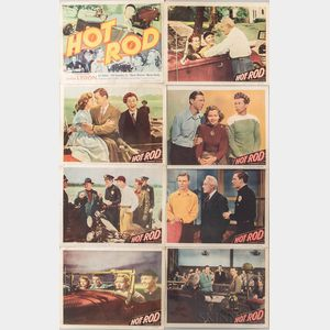 """Complete Set of Eight """"Hot Rod"""" Movie Lobby Cards"""