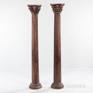 Two Architectural Half Columns