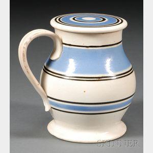Rare Mochaware Treacle Jar