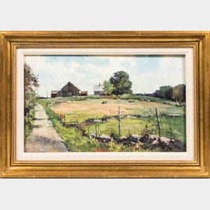 Bernard Corey (American, 1914-2000)    Summer Field, Sutton, Massachusetts