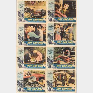 "Full Set of Eight ""Hot Car Girl"" Movie Lobby Cards"