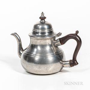 Pear-shape Pewter Teapot