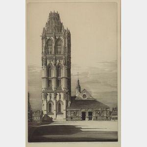 John Taylor Arms (American, 1887-1953)    Aspiration, La Madeliene, Verneuil-Sur-Avre