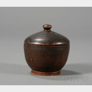 Turned Treen Covered Sugar Bowl