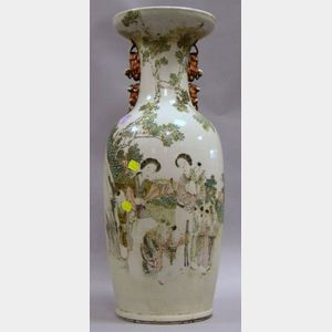 Large Chinese Export Porcelain Famille Rose Vase.
