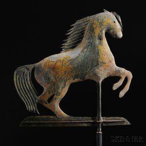 Rare Small Rearing Arabian Horse Weathervane