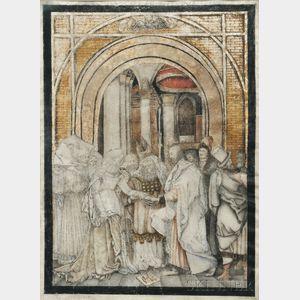 After Albrecht Dürer (German, 1471-1528)      Betrothal of the Virgin