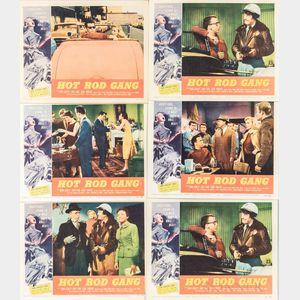 """Six """"Hot Rod Gang"""" Movie Lobby Cards"""