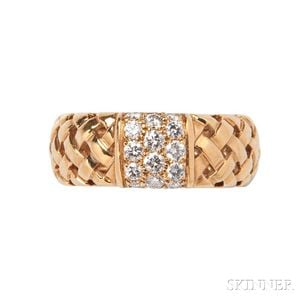 18kt Gold and Diamond Ring, Tiffany & Co.