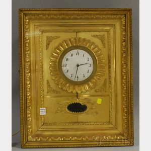 Neoclassical Gilt Wall Clock