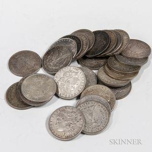 Twenty-eight Morgan Dollars