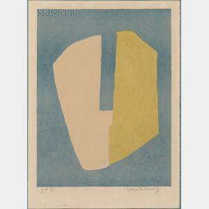Serge Poliakoff (Russian, 1906-1969)      Composition jaune et bleue